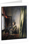 Girl Reading a Letter by an Open Window by Jan Vermeer