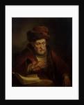Old Man holding a Pair of Spectacles by Karel van der Pluym