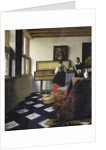 A Lady at the Virginal with a Gentleman (The Music Lesson) by Jan Vermeer
