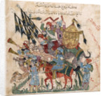 Caravan of pilgrims in Ramleh (from a manuscript of Maqâmât of al-Harîrî) by Yahya ibn Mahmud Al-Wasit