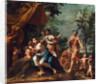 Apollo with Three Graces, Venus, Cupid and Pan by Marcantonio Franceschini