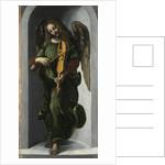 An Angel in Green with a Vielle, c. 1490-1499 by Leonardo da Vinci