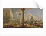 The Molo with the Ducal Palace, c. 1710 by Luca Carlevaris