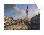 The Piazza San Marco in Venice by Giovanni Antonio Canaletto
