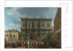 The Feast Day of Saint Roch in Venice, ca 1735 by Canaletto