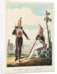 Under Officer and Soldier of the Pavlovsky Guard Regiment, 1830-1840s by Lev Alexandrovich Belousov