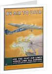 By air to USSR (Poster of the Intourist company) by Konstantin Bor-Ramensky