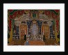 Stage design for the theatre play The Masquerade by M. Lermontov, 1917 by Alexander Yakovlevich Golovin