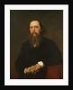 Portrait of the author Mikhail Saltykov-Shchedrin, 1879 by Ivan Nikolayevich Kramskoi