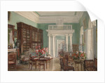 Interior of the Library in the Golitsyn Nikolo-Uryupino Estate, 1910 by Alexander Valentinovich Sredin