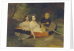 Self-portrait with Baroness Yekaterina Meller-Zakomelskaya and her daughter in a boat, 1833-1835 by Karl Pavlovich Briullov