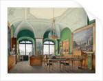 Interiors of the Winter Palace. The Large Study of Emperor Nicholas I, 1860s by Eduard Hau