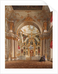 Interiors of the Winter Palace. The Cathedral in the Winter Palace, 1860s by Eduard Hau