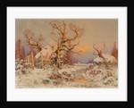 Winter Landscape in the Evening Sun by Juli Julievich von Klever