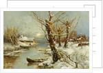 Winter River Landscape, 1897 by Juli Julievich von Klever