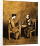 Raskolnikov und Marmeladov. Illustration for the novel Crime and Punishment by F. Dostoevsky, 1874 by Baron Mikhail Petrovich Klodt