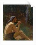 Caveman Playing the Flute by Konstantin Pavlovich Kuznetsov