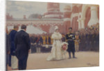 Nicholas II receiving rural district elders on May 18, 1896 in the yard of Petrovsky Palace in Moscow, 1897 by Ilya Yefimovich Repin