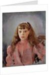 Portrait of Grand Duchess Olga Alexandrovna of Russia (1882?1960), 1893 by Valentin Alexandrovich Serov