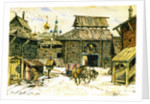 Old Moscow. The Wooden City, 1902 by Appolinari Mikhaylovich Vasnetsov