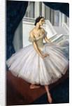 Portrait of the ballerina Anna Pavlova by Alexander Yevgenyevich Yakovlev