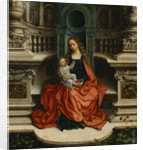 The Madonna and Child Enthroned, 16th century by Adriaen Isenbrant