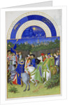 May (Les Très Riches Heures du duc de Berry) by Limbourg Brothers