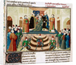 The Coronation of Henry IV of England (Detail of a miniature from the Grandes Chroniques de France by Jean Froissart) by Anonymous