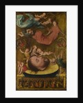 The Head of Saint John the Baptist, with Mourning Angels and Putti, Early16th cen by Jan Mostaert