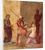 Ajax the Lesser drags Cassandra away from the Xoanon, 1st H. 1st cen. AD by Roman-Pompeian wall painting