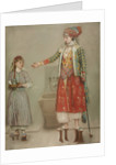 A lady in Turkish costume with her servant at the hammam, Mid of the 18th cen by Jean-Étienne Liotard