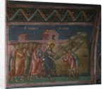 Jesus healing two blind men, 14th century by Anonymous