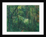 Interior of a forest, ca 1885 by Paul Cézanne