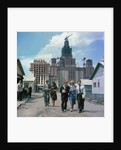 The construction of the main building of Moscow State University on Lenin Hills by Anonymous