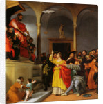 Altar of St. Lucia. Saint Lucia Before The Judge by Lorenzo Lotto