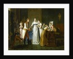Marie-Louise of Austria Bidding Farewell to her Family in Vienna, 13th March 1810 by Pauline Auzou