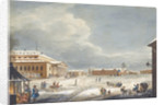 View of the Saint Petersburg Imperial Bolshoi Kamenny Theatre by Karl Ivanovich Kolmann