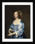 Portrait of Mary (née Ruthven), Lady van Dyck by Sir Anthony van Dyck