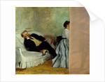 The painter Edouard Manet with his wife Suzanne by Edgar Degas