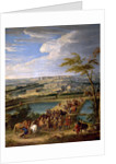 View of the city and Palace of Versailles, as seen from the Montbauron hill by Jean-Baptiste Martin