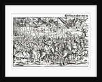 Fragment of a broadside on the Turkish invasion of Hungary by Erhard Schoen