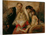 The Artist with his Wife and Children by Franz von Lenbach