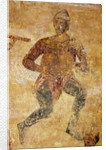 Musicians and acrobats (detail) by Ancient Russian frescos