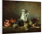 Grapes and pomegranates by Jean-Baptiste Siméon Chardin