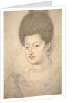 Portrait of Gabrielle dEstrees by Daniel Dumoustier