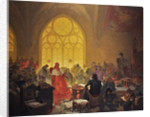 The Hussite King George of Podebrady (The cycle The Slav Epic) by Alfons Marie Mucha