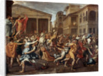 The Rape of the Sabine women by Nicolas Poussin