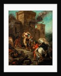 Rebecca Raped by a Knight Templar During the Sack of the Castle Frondeboeuf by Eugène Delacroix