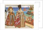 Illustration for the Fairy tale of the Tsar Saltan by A. Pushkin by Ivan Yakovlevich Bilibin