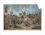 Battle Between the Georgians and Mountain Tribes by Alexander Osipovich Orlowski